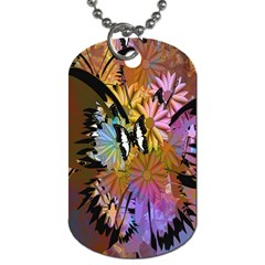 Abstract Digital Art Dog Tag (one Side)