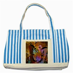 Abstract Digital Art Striped Blue Tote Bag