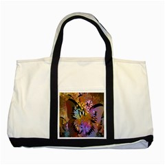 Abstract Digital Art Two Tone Tote Bag