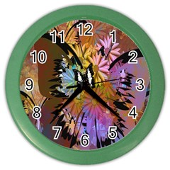 Abstract Digital Art Color Wall Clocks