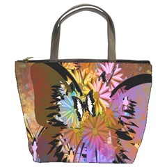 Abstract Digital Art Bucket Bags