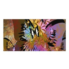 Abstract Digital Art Satin Shawl