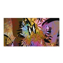 Abstract Digital Art Satin Wrap