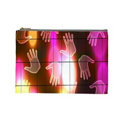 Abstract Background Design Squares Cosmetic Bag (large)  by Nexatart