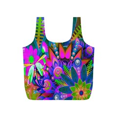 Abstract Digital Art  Full Print Recycle Bags (s)  by Nexatart
