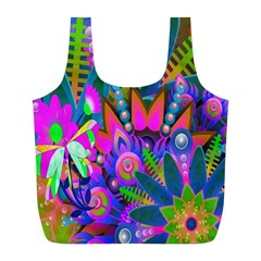 Abstract Digital Art  Full Print Recycle Bags (l)  by Nexatart