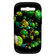 Abstract Balls Color About Samsung Galaxy S Iii Hardshell Case (pc+silicone) by Nexatart