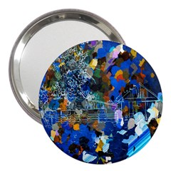 Abstract Farm Digital Art 3  Handbag Mirrors