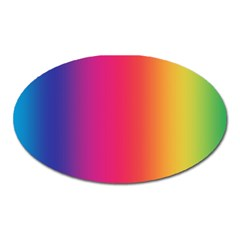 Abstract Rainbow Oval Magnet