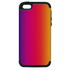 Abstract Rainbow Apple Iphone 5 Hardshell Case (pc+silicone) by Nexatart