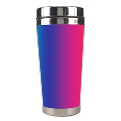 Abstract Rainbow Stainless Steel Travel Tumblers by Nexatart