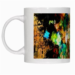 Abstract Digital Art White Mugs