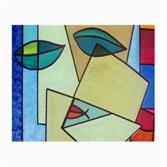 Abstract Art Face Small Glasses Cloth (2 Side) by Nexatart