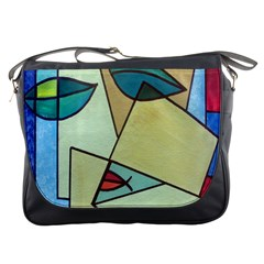 Abstract Art Face Messenger Bags