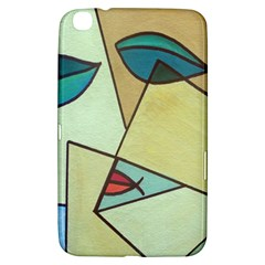 Abstract Art Face Samsung Galaxy Tab 3 (8 ) T3100 Hardshell Case  by Nexatart