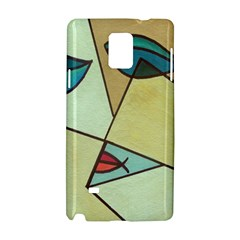 Abstract Art Face Samsung Galaxy Note 4 Hardshell Case by Nexatart