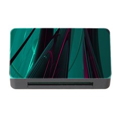 Abstract Green Purple Memory Card Reader With Cf