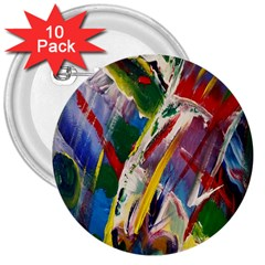 Abstract Art Art Artwork Colorful 3  Buttons (10 Pack)  by Nexatart