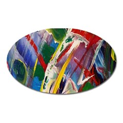 Abstract Art Art Artwork Colorful Oval Magnet