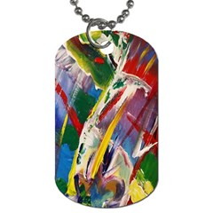 Abstract Art Art Artwork Colorful Dog Tag (two Sides) by Nexatart
