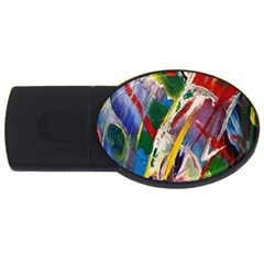 Abstract Art Art Artwork Colorful Usb Flash Drive Oval (2 Gb) by Nexatart