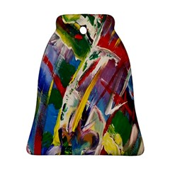 Abstract Art Art Artwork Colorful Bell Ornament (two Sides) by Nexatart