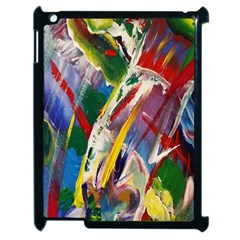 Abstract Art Art Artwork Colorful Apple Ipad 2 Case (black) by Nexatart
