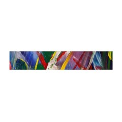 Abstract Art Art Artwork Colorful Flano Scarf (mini) by Nexatart
