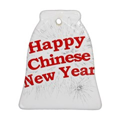 Happy Chinese New Year Design Bell Ornament (two Sides) by dflcprints