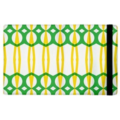 Green Yellow Shapes                                                                                                                  			apple Ipad 2 Flip Case by LalyLauraFLM