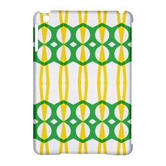 Green Yellow Shapes                                                                                                                  			apple Ipad Mini Hardshell Case (compatible With Smart Cover) by LalyLauraFLM