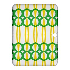 Green Yellow Shapes                                                                                                                  			samsung Galaxy Tab 4 (10 1 ) Hardshell Case by LalyLauraFLM