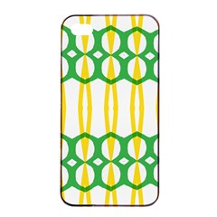 Green Yellow Shapes                                                                                                                  			apple Iphone 4/4s Seamless Case (black) by LalyLauraFLM