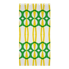 Green Yellow Shapes                                                                                                                  	shower Curtain 36  X 72  by LalyLauraFLM