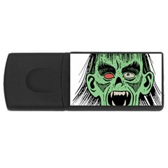 Zombie Face Vector Clipart Usb Flash Drive Rectangular (4 Gb) by Nexatart