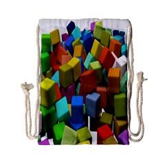 Cubes Assorted Random Toys Drawstring Bag (small) by Nexatart