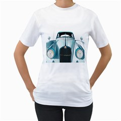 Oldtimer Car Vintage Automobile Women s T-shirt (white) (two Sided) by Nexatart