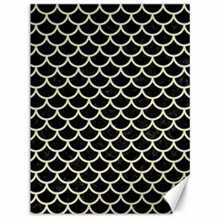 Scales1 Black Marble & Beige Linen Canvas 36  X 48  by trendistuff