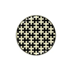 Puzzle1 Black Marble & Beige Linen Hat Clip Ball Marker (10 Pack) by trendistuff