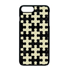 Puzzle1 Black Marble & Beige Linen Apple Iphone 7 Plus Seamless Case (black) by trendistuff