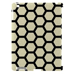 Hexagon2 Black Marble & Beige Linen (r) Apple Ipad 3/4 Hardshell Case (compatible With Smart Cover) by trendistuff