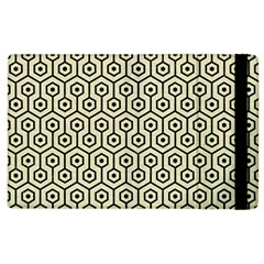 Hexagon1 Black Marble & Beige Linen (r) Apple Ipad 3/4 Flip Case by trendistuff