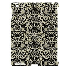 Damask2 Black Marble & Beige Linen (r) Apple Ipad 3/4 Hardshell Case (compatible With Smart Cover) by trendistuff