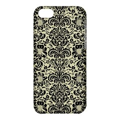 Damask2 Black Marble & Beige Linen (r) Apple Iphone 5c Hardshell Case by trendistuff