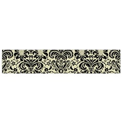 Damask2 Black Marble & Beige Linen (r) Flano Scarf (small) by trendistuff