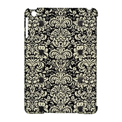 Damask2 Black Marble & Beige Linen Apple Ipad Mini Hardshell Case (compatible With Smart Cover) by trendistuff