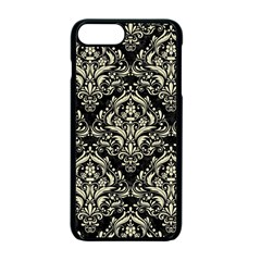 Damask1 Black Marble & Beige Linen Apple Iphone 7 Plus Seamless Case (black) by trendistuff