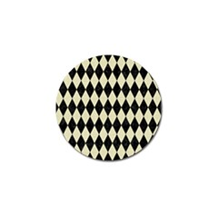 Diamond1 Black Marble & Beige Linen Golf Ball Marker (4 Pack) by trendistuff