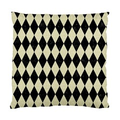 Diamond1 Black Marble & Beige Linen Standard Cushion Case (one Side) by trendistuff