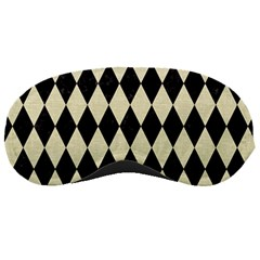 Diamond1 Black Marble & Beige Linen Sleeping Mask by trendistuff